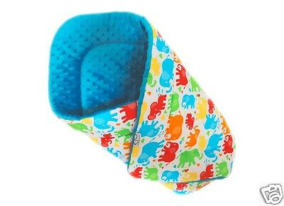 Gooseberry Baby Swaddle Wrap Play Mat Quality Padded Cotton & Minky 75x75cm