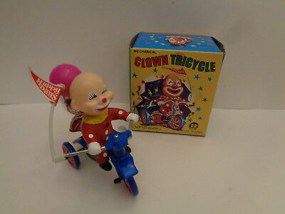 Vintage Clown auf Dreirad Mechanical Clown Tricycle CENTURY  Made in Korea