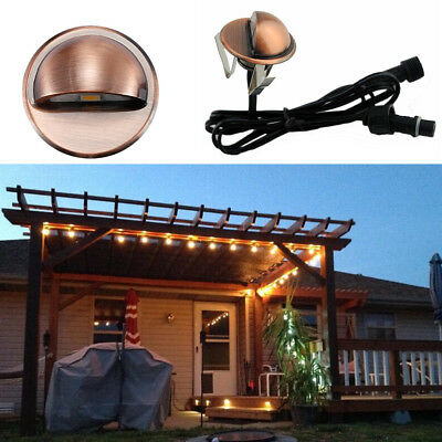 12v Bronze Half Moon Outdoor Garden Path Plinth Led Deck Stairs Step Lights Kit Fast Color Outdoor Lighting
