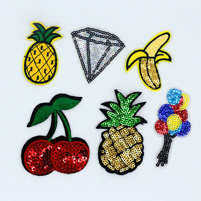 Fruit party Design Embroidered Cloth Iron On Patches Sewing Motif Appliques NEW