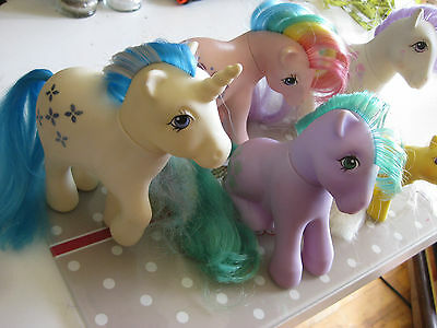 "Lot of 5 Vintage My Little Pony ""Some Rare One"""