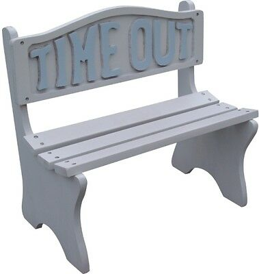 Toddler Kids Time Out Kids White Frame With Blue Lettering Bench New