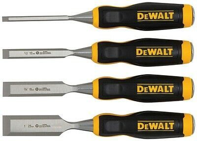 Wood Chisel Chisels Set 4 Tool Tools Carving Handle Woodworking Lot New