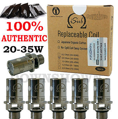 100 % Genuine Inokin isub Coils i Sub G Tank Replacement Coil 0.5 Omh