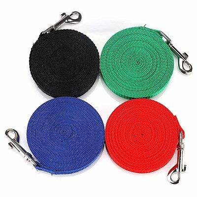 Pet 1.8M-15M Long Training Dog Puppy 4 Colors Lead Leash Recall Obedience Nylon