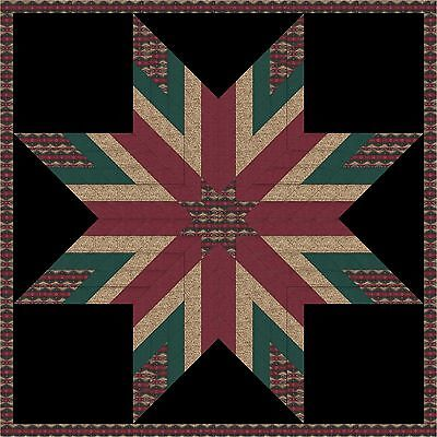 A Native STAR QUILT TOP - Not Quilted, Machine Pieced