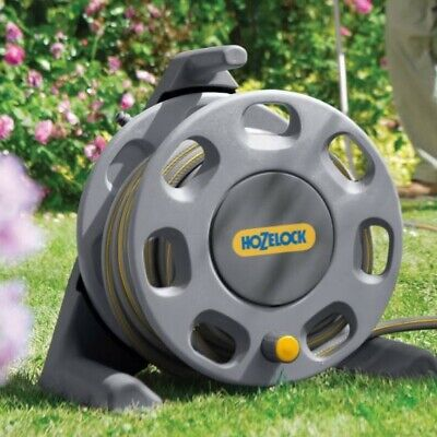 Hozelock Compact Hose Reel with 25m Hose Pipe & Nozzle