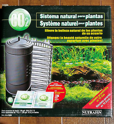 NEW - Nutrafin Natural Plant System CO2 Incl 3 Month Supply Activator Stabilizer