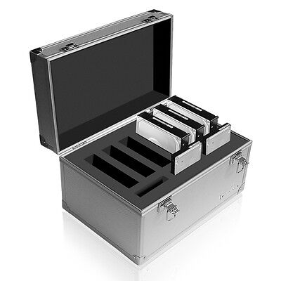 NEW! IcyBox IB-AC626 Aluminium Suitcase Case Protection Box for Hard Disk Drive