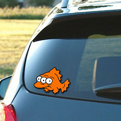The Simpsons Blinky, The Three Eyed Mutant Fish - Three color vinyl decal