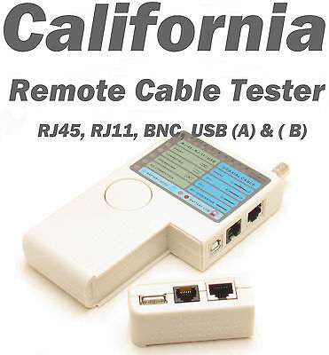 Multifunctional Remote Network Cable Tester Rj11 Rj45 USB BNC LAN Wire Coaxial