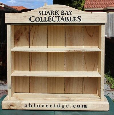 Stubby Holder Display Unit - Wood - Shark Bay Collectables