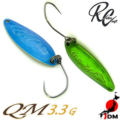 Assorted Colors RODIO CRAFT QM 3.3 g Trout Spoon