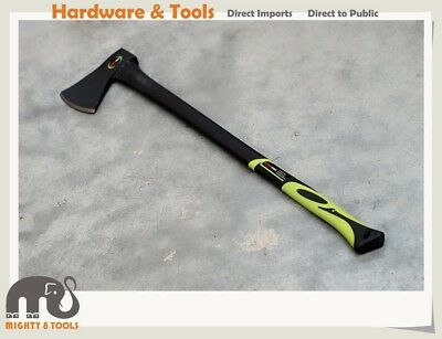 "1.25/1.5kg Axe 32"" Long Fiberglass Handle Wood-Pile Hatchet Hunting Chopping"