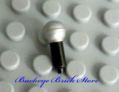 ☀️NEW Lego Band Music MICROPHONE Black /& Gold Vocal Singer Band Rockstar