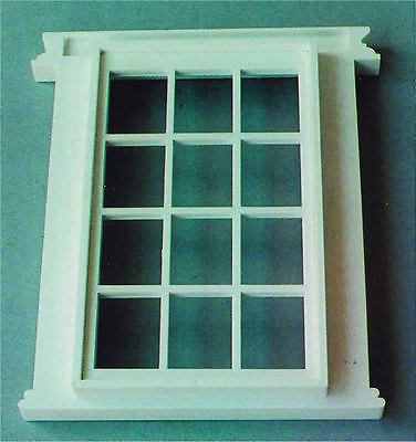 Georgian 12 Pane Window, Doll House Accessory, Miniature Window. 1.12 Scale