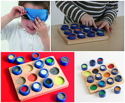 Touch and Match Sensory Board SEN Montessori Touch Early Years
