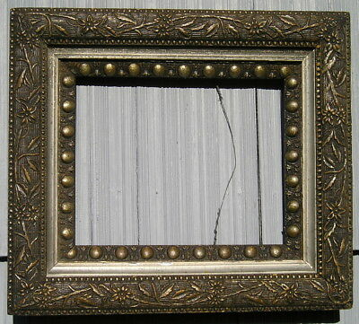 Antique Aesthetic Eastlake Victorian Rare Black~Silver Floral Picture Frame 8~10