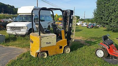 X.  Yale Electric Forklift 4000 lb. Lift 168 Hours