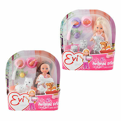 Evi Love Animal Friends 4 Pets Fashion Doll Accessories Girls Toy Assortment