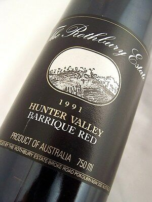 1991 ROTHBURY ESTATE Barrique Red Blend Isle of Wine