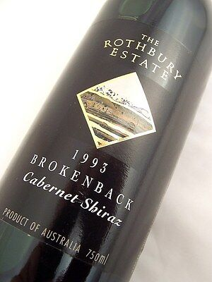 1993 ROTHBURY ESTATE Brokenback Cabernet Shiraz Isle of Wine