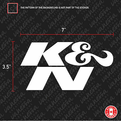 2X K&N performance air filters sticker vinyl decal