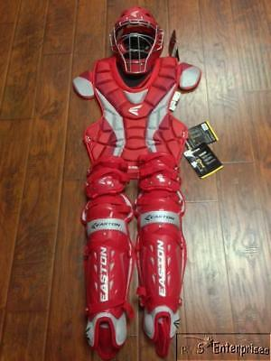 Easton Force adult baseball catchers equipment gear NEW Ages 16+ Red
