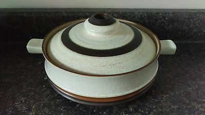 Denby Potter's Wheel Rust Red 1 Quart Covered Round Casserole Dish With Lid