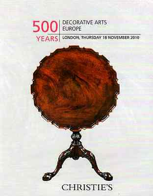 Christie's 500 Years : Decorative Arts Europe