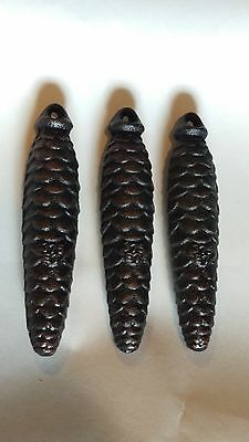 Set of 3 Pinecone Style Cuckoo Clock Weights 375 ET or 13.2277 OZ EACH