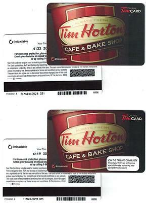 Tim Hortons 2016  USA Cafe & Bake Shop w/Lid Gift Card FD50892 A ( 2 Different )