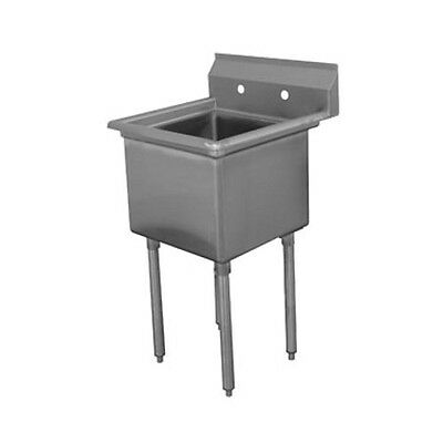 "Advance Tabco FE-1-1515 15"" Fabricated NSF Econom Sink"