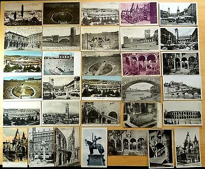 32 vintage Postcards All Verona Italy 1904-1933 Collection Lot