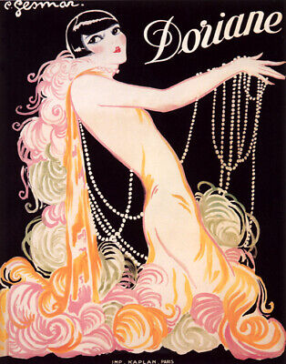 Poster Doriane Fragrance Fashion Woman Glamour French Vintage Repro Free S/h