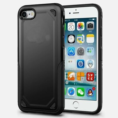 Black Armor Case for iPhone 8 7 Shock Proof Back Cover + 1pcs. Screen Protector