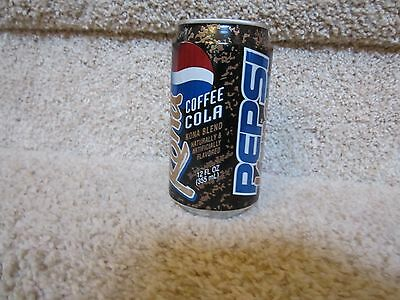 Pepsi Diet Cola Soda Pop Can limited edition opened kona coffee blend 1997 cool