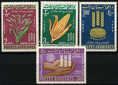Afghanistan 1963 Freedom From Hunger MNH Set #D33279