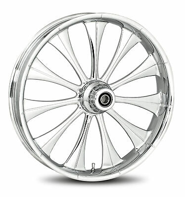 """RC Components Chrome Cynical 19"""" Front Wheel & Tire Harley 00-07 FLH/T"""