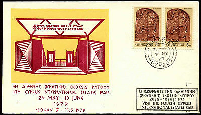 Cyprus 1979, 4th Int State Fair Cover #C37149
