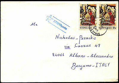 Cyprus 1972 Commercial Cover To Italy #C37144