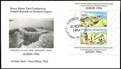 Turkish Cypriot Posts 1994 Europa M/S FDC First Day Cover #C37158