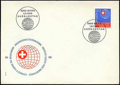 Switzerland 1966 New Helvetic Society For Swiss FDC First Day Cover #C36862