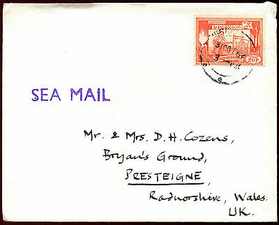 Burma 1962 Sea Mail Cover To UK #C36641