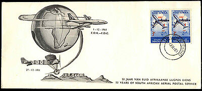 South West Africa 1961 Aerial Post 50th Anniv FDC First Day Cover #C36500