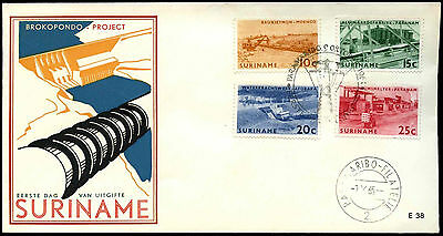 Suriname 1965 Brokopondo Power Station FDC First Day Cover #C35502