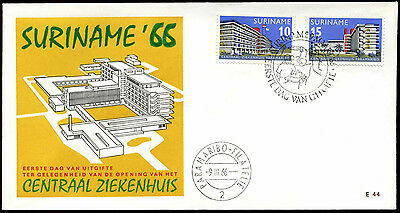 Suriname 1966, Central Hospital FDC First Day Cover #C35505