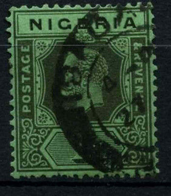 Nigeria 1921-32 SG#26, 1s Black/Green KGV Used #D32540