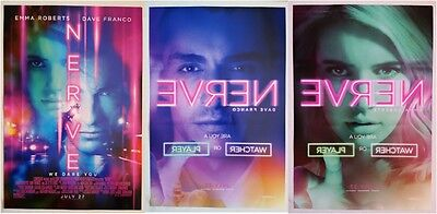 SDCC Comic Con 2016 Handout NERVE movie poster EMMA ROBERTS DAVE FRANCO