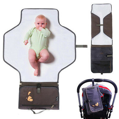 Portable Changing Mat Baby Waterproof Pad Cover Nappy Change Travel  Hand Bag